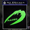 Cylon Raider Decal Sticker Battlestar BSG D4 Lime Green Vinyl 120x120