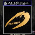 Cylon Raider Decal Sticker Battlestar BSG D4 Metallic Gold Vinyl 120x120