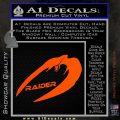 Cylon Raider Decal Sticker Battlestar BSG D4 Orange Vinyl Emblem 120x120
