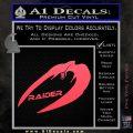 Cylon Raider Decal Sticker Battlestar BSG D4 Pink Vinyl Emblem 120x120