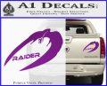 Cylon Raider Decal Sticker Battlestar BSG D4 Purple Vinyl 120x97