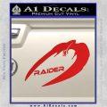 Cylon Raider Decal Sticker Battlestar BSG D4 Red Vinyl 120x120