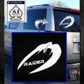 Cylon Raider Decal Sticker Battlestar BSG D4 White Emblem 120x120