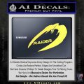 Cylon Raider Decal Sticker Battlestar BSG D4 Yelllow Vinyl 120x120