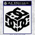 DC Shoes Logo 3D Decal Sticker Black Logo Emblem 120x120