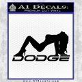 DODGE SEXY GIRL LOGO VINYL DECAL STICKER Black Logo Emblem 120x120