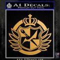 Dangan Ronpa Danganronpa Logo Anime Decal Sticker Metallic Gold Vinyl 120x120