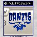 Danzig Decal D3 Sticker Blue Vinyl 120x120