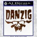 Danzig Decal D3 Sticker Brown Vinyl 120x120
