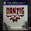 Danzig Decal D3 Sticker Dark Red Vinyl 120x120