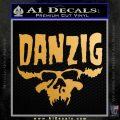 Danzig Decal D3 Sticker Metallic Gold Vinyl 120x120