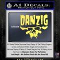 Danzig Decal D3 Sticker Yelllow Vinyl 120x120