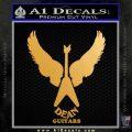 Dean Guitars Wings Logo Vinyl Decal Sticker Metallic Gold Vinyl 120x120
