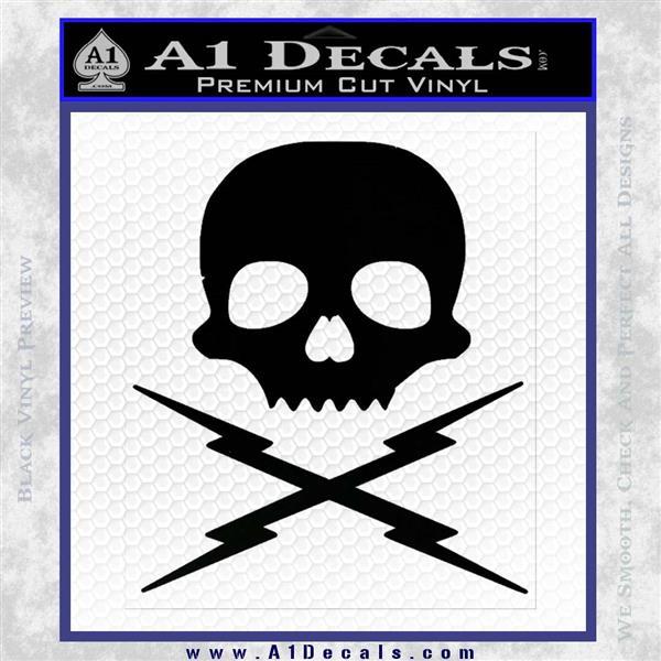 Death Proof Stuntman Mike Decal Sticker Black Logo Emblem