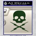 Death Proof Stuntman Mike Decal Sticker Dark Green Vinyl 120x120