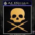 Death Proof Stuntman Mike Decal Sticker Metallic Gold Vinyl 120x120
