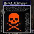 Death Proof Stuntman Mike Decal Sticker Orange Vinyl Emblem 120x120