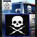 Death Proof Stuntman Mike Decal Sticker White Emblem 120x120