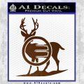Deer In Bow Sights Decal Sticker Brown Vinyl 120x120