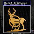 Deer In Bow Sights Decal Sticker Metallic Gold Vinyl 120x120