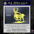 Deer In Bow Sights Decal Sticker Yelllow Vinyl 120x120