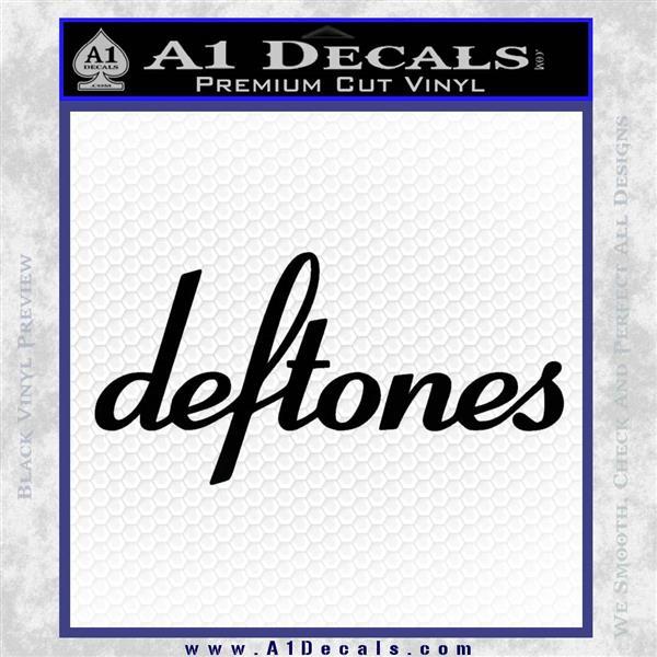 Deftones Decal Sticker Band Logo Black Logo Emblem