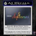 Deftones Decal Sticker Band Logo Sparkle Glitter Vinyl 120x120