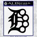 Detroit Brass Knuckles Decal Sticker Black Logo Emblem 120x120