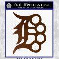 Detroit Brass Knuckles Decal Sticker Brown Vinyl 120x120