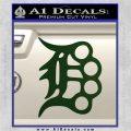 Detroit Brass Knuckles Decal Sticker Dark Green Vinyl 120x120