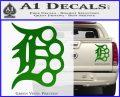 Detroit Brass Knuckles Decal Sticker Green Vinyl 120x97