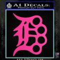 Detroit Brass Knuckles Decal Sticker Hot Pink Vinyl 120x120