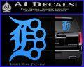 Detroit Brass Knuckles Decal Sticker Light Blue Vinyl 120x97