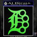 Detroit Brass Knuckles Decal Sticker Lime Green Vinyl 120x120