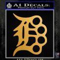 Detroit Brass Knuckles Decal Sticker Metallic Gold Vinyl 120x120