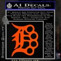 Detroit Brass Knuckles Decal Sticker Orange Vinyl Emblem 120x120