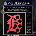 Detroit Brass Knuckles Decal Sticker Pink Vinyl Emblem 120x120