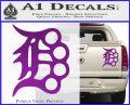 Detroit Brass Knuckles Decal Sticker Purple Vinyl 120x97