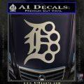 Detroit Brass Knuckles Decal Sticker Silver Vinyl 120x120