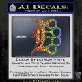 Detroit Brass Knuckles Decal Sticker Sparkle Glitter Vinyl 120x120
