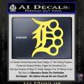Detroit Brass Knuckles Decal Sticker Yelllow Vinyl 120x120