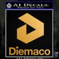Diemaco Defence Firearms DS Decal Sticker Metallic Gold Vinyl 120x120
