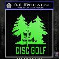Disc Golf Woods Decal Sticker rr Lime Green Vinyl 120x120