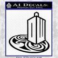 Doctor Who Rassilon Mashup Decal Sticker Black Logo Emblem 120x120