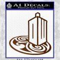 Doctor Who Rassilon Mashup Decal Sticker Brown Vinyl 120x120