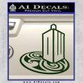 Doctor Who Rassilon Mashup Decal Sticker Dark Green Vinyl 120x120