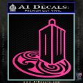 Doctor Who Rassilon Mashup Decal Sticker Hot Pink Vinyl 120x120