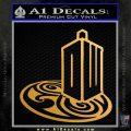 Doctor Who Rassilon Mashup Decal Sticker Metallic Gold Vinyl 120x120