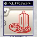 Doctor Who Rassilon Mashup Decal Sticker Red Vinyl 120x120