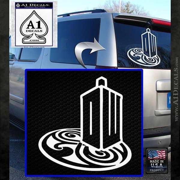 Doctor Who Rassilon Mashup Decal Sticker White Emblem